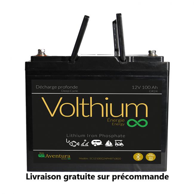 Batterie au lithium Aventura 12V 100A - Autochauffante/Bluetooth