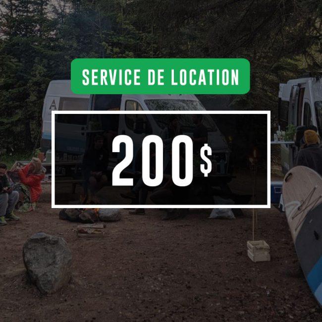 Certificat-cadeau de 200$ : Service de location VanLife MTL